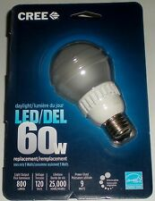 CREE 9W=60W 120V 5000K 800 LUMENS DAYLIGHT DIMMABLE LED LIGHT BULB LAMP STANDARD