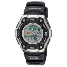Casio AQW101-1AV Men's Analog & Digital Fishing Gear Thermometer Sports Watch