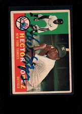 1960 TOPPS #163 HECTOR LOPEZ AUTHENTIC ON CARD AUTOGRAPH SIGNATURE AX1963