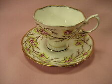 Vintage Royal Albert Bone China England  Heather Bell #2687  Tea Cup & Saucer
