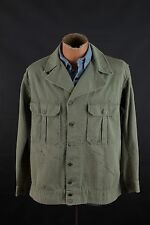 Vtg WW2 US Army 1st Pattern HBT Field Jacket Shirt sz M #1248 40s Fatigue
