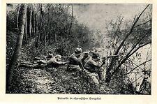1914 Ostpreußen * Grenzschutz * Deutsche Patrouille im Seengebiet *  WW1