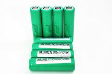 4 SAMSUNG 25R 18650F HIGH DRAIN 2500mAh 20A Rechargeable Battery / Green Case