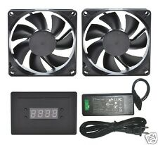 PROCOOL AVP-280T AV Cabinet Cooling Fan System with Temp control (2 FANS)