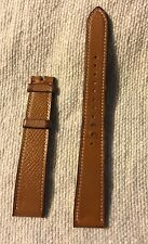 Genuine HERMES Light Brown COURVHEVEL Leather  Watch Strap 17 mm To 14 mm