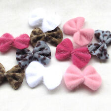 40/120pcs Ribbon Bows Flower Sewing DIY Appliques Wedding Party Decoration