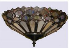 Purple Tiffany Style Stained Glass Ceiling Fan Light Kit