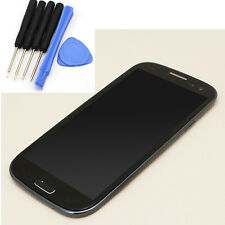 F Samsung Galaxy S3 4G i9305 Front Full LCD Touch Screen Glass Panel+Frame Black