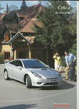 TOYOTA CELICA ACCESSORIES SALES BROCHURE OCTOBER 2002 FOR 2003
