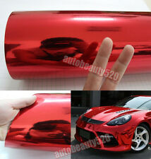 Entire Auto Wrap - 50FT x 5FT Car Red Glossy Mirror Chrome Vinyl Sticker Decal