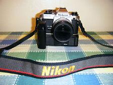 Nikon FG-20 Kit: MD14 Autowinder, Micro Nikkor 55mm 1: 2.8, Niko Polarizer
