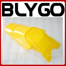 Yellow Plastic Rear Tail Mud Guard Fender KLX110 Style PIT PRO Trail Dirt Bike