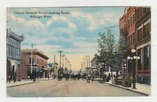 Billings.MT.27th Street Looking South,Horse Drawn Wagons,Yellowstone Co.Used,'11