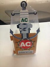 OLD STYLE MARINE AC SPARK PLUG SHIPS WHEEL AND ANCHOR RUST PROOFED DEALER SIGN