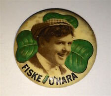 Antique American Singer & Actor! Fiske O'hara! The Irish Tenor! Pinback Button!