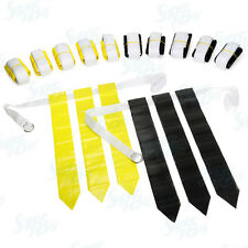Flag Football Set - 12 Belts + 36 Flags (18 Black Flags & 18 Yellow Flags)