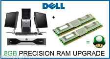 8 Gb (2x4 Gb) Actualizar La Memoria Ram Dell Precision T5400 T7400 workstation en rack R5400