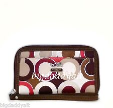 NEW COACH MADISON GRAPHIC OP ART UNIVERSAL CASE PHONE TOTE CAMERA WRISTLET 63059