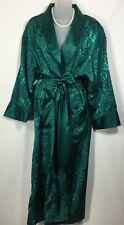 Vintage Victoria's Secret Full Length Sexy Satin Robe Green Glam