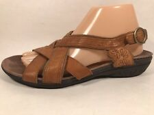 Merrell Bassoon Tan Leather Slingback Sandals Women's Sz 9 M