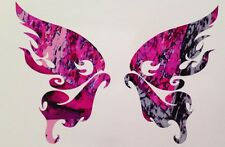 """Pink Purple Camo Tribal Flame Butterfly Truck Vinyl Decal 5"""" Muddy Wild Cowgirl"""