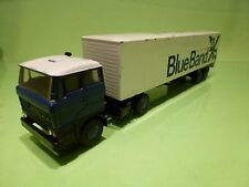 LION CAR 58 36 DAF 2800 TRUCK + TRAILER - BLUE BAND - 1:50 - GOOD CONDITION
