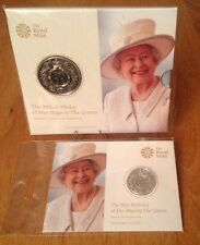 Royal Mint 90Th Birthday Of Her Majesty The Queen £5 Bunc & £20 Fine Silver Coin