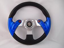 """BLUE 12.5""""  Steering Wheel with Adapter for  RZR 570 800 900 1000"""