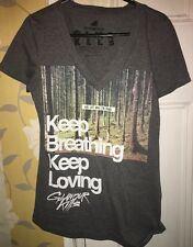 Glamour Kills Keep Breathing Keep Loving Size Small Tee For Women