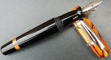 New Old Stock Black & Tigers Eye Monteverde USA small fountain pen.