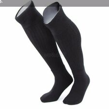 Men Boys Over Knee High Tube Socks Solid Running Sports Black Stockings