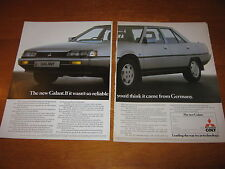 Mitsubishi Colt Galant advert with Bensons and Hedges advert on the back
