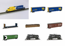 Ontario Northland ONR Train Bundle w/ White Chevron SD40-2 Bowser Locomotive DCC