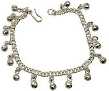 Silver Tone Anklet With Bells - Belly Dance Jewelry