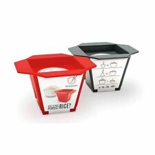 Luckies Rice & Easy, RED Make Perfect Rice Every Time Measuring Cup Silicone