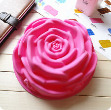 Rose Flowers Jelly Silicone Cake Mould Chocolate Mold DIY Baking Decorating Tool