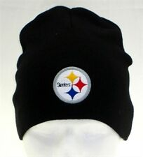 Pittsburgh Steelers Black Uncuffed Knit Cap [NEW] Winter Hat Beanie Toboggan NFL