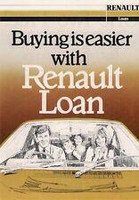 RENAULT finanziare motorfair OFFERTA SPECIALE 1981 mercato del Regno Unito foglio Brochure 4 18