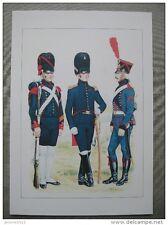 Officier, canonnier de première classe et canonnier, artillerie à pied