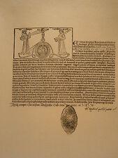 Planche gravure Religion Moyen age Diplome de tertiaire de l'ordre St François