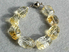 Natural Citrine Faceted Nugget Concave Cut Gemstone Beads (131025)