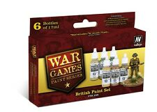 Vallejo 70153 British Infantry Acrylic War Games Paint Set 6 x 17ml Plastic Btl