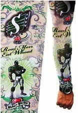 TATTOO SLEEVE NYLON STRETCHY FAKE SLEEVES ARM - SPORTS AND DOLLARS FANCY DRESS