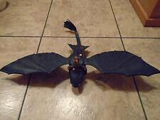 2010 HOW TO TRAIN YOUR DRAGON--FIRE BREATHING NIGHT FURY FIGURE (LOOK) W/ HICCUP