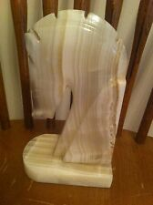 vintage marble bookend  horse head Shape Book End Chess Piece Collector Heavy
