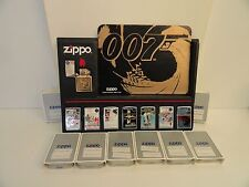 Rare Zippo James Bond 007 Lighter Set of 8 Limited Production (1996) New