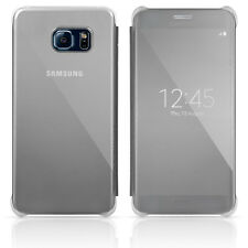 Samsung Galaxy S6 Edge+ S-View Flip Cover Case Clear / Silver OEM Original Plus