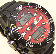 CITIZEN AQUALAND PROMASTER BLACK RUBBER BAND SCUBA DIVER 200m  JP1095-15X cg
