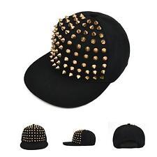 Hip-hop Hedgehog Adjustable Hat Full Spikes Spiky Rivets Studded Baseball Cap