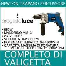 Newton GTP850 TRAPANO PERCUSSIONE 850W MANDRINO MM13 MURO LEGNO FERRO  VALIGETTA